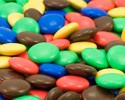 colorful background of candy coated chocolate sweets